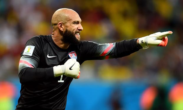 Tim Howard of the United States notched 16 saves during the 2014 World Cup match against Belgium at Arena Fonte Nova on July 1, 2014 in Salvador, Brazil.