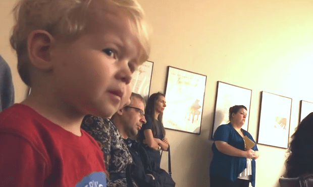 Toddler crying at concert