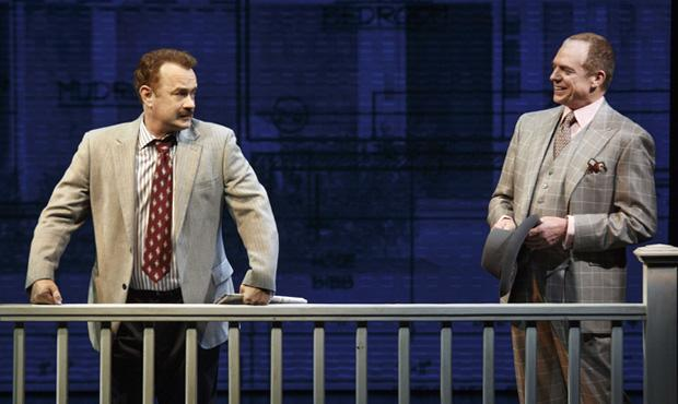 Left to right: Tom Hanks and Christopher McDonald in Lucky Guy