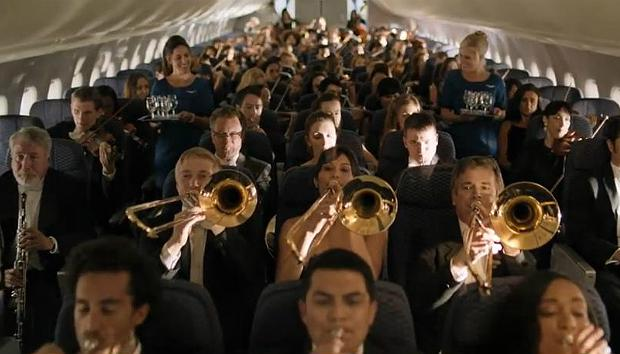 United Airlines's 'Orchestra' Commercial, featuring 'Rhapsody in Blue'