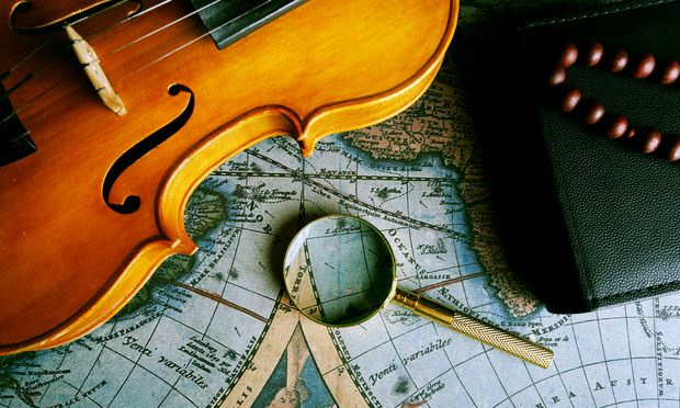 violin and a map, unknown composers and music
