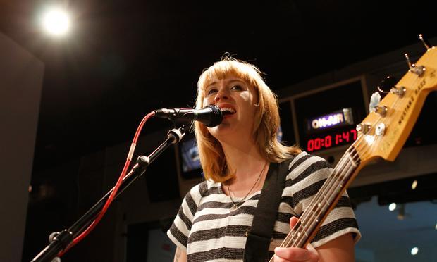 Jenn Wasner of Wye Oak performs in the Soundcheck studio.