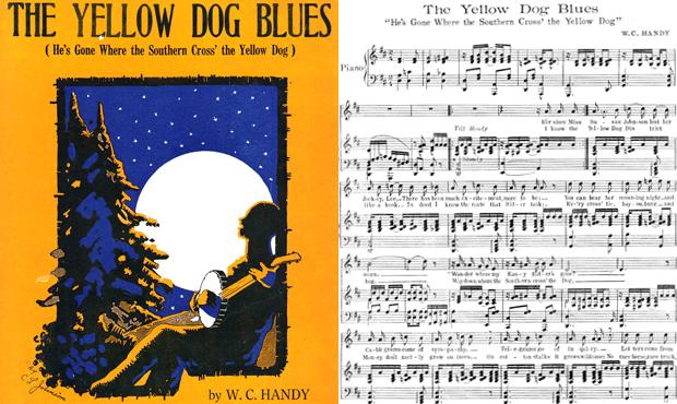 Sheet music for The Yellow Dog Blues by W.C. Handy