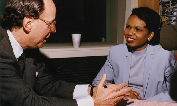 Condoleezza Rice with Mad About Music host Gilbert Kaplan.