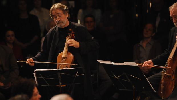 Viola da gamba performer Jordi Savall in Jerusalem