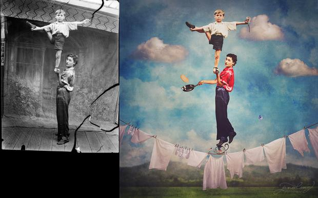 Left: Circari by Costică Acsinte, Right: The Juggling Act by Jane Long