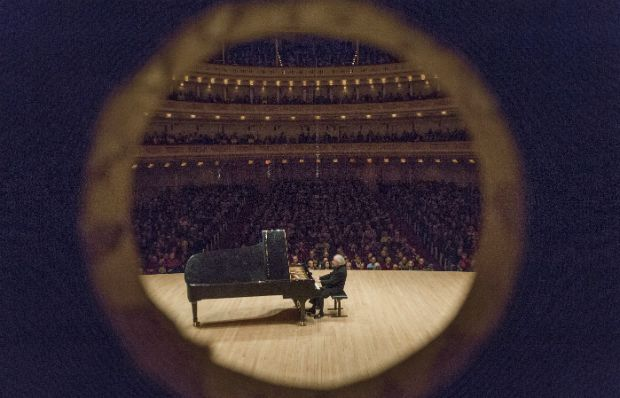 Pianist Andras Schiff performs at Carnegie Hall on March 20, 2015