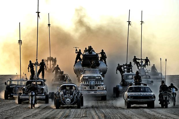 """In the post-apocalyptic world of """"Mad Max: Fury Road,"""" warriors rule the desert in massive armored trucks"""