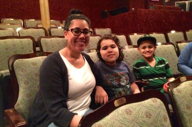 Patrons at the New Victory Theater's autism-friendly performance.