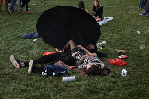 Already taking a nap on the first day of Governors Ball.