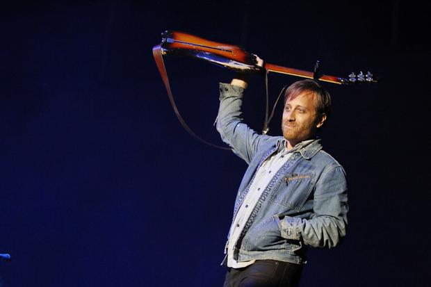 The Black Keys' Dan Auerbach performs on the GovBallNYC stage on Randall's Island in New York on June 7, 2015.