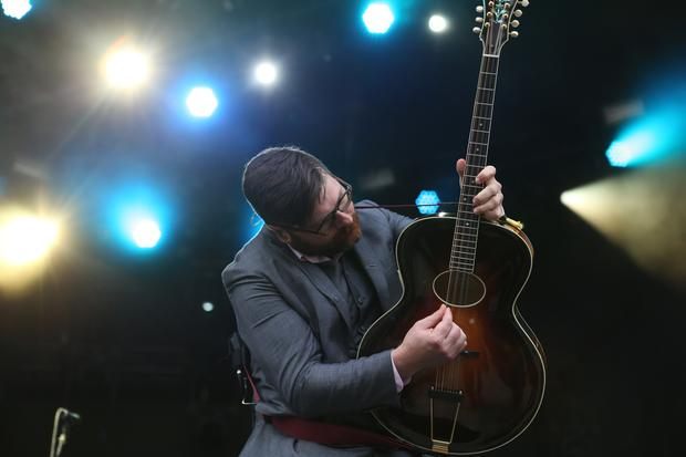 The Decemberists' Colin Meloy performs on the Honda Stage at Governors Ball on Randall's Island in New York on June 5, 2015.