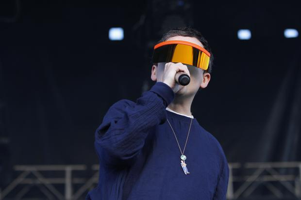 Hot Chip performs on the Big Apple stage at Governors Ball on Randall's Island in New York on June 7, 2015.