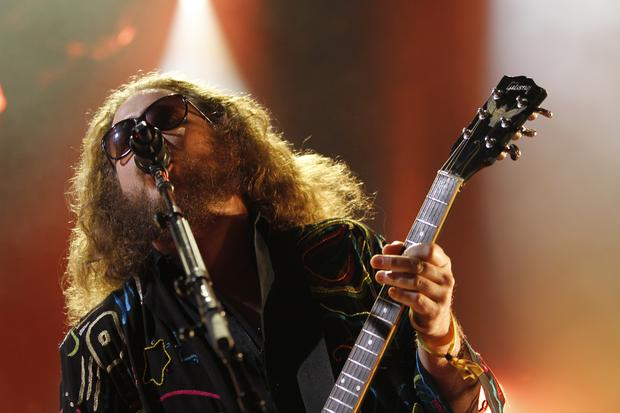 My Morning Jacket's Jim James performs on the Honda Stage at Governors Ball on Randall's Island in New York on June 5, 2015.