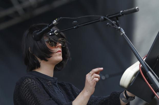 Sharon Van Etten performs on the Big Apple Stage at Governors Ball on Randall's Island in New York on June 6, 2015.