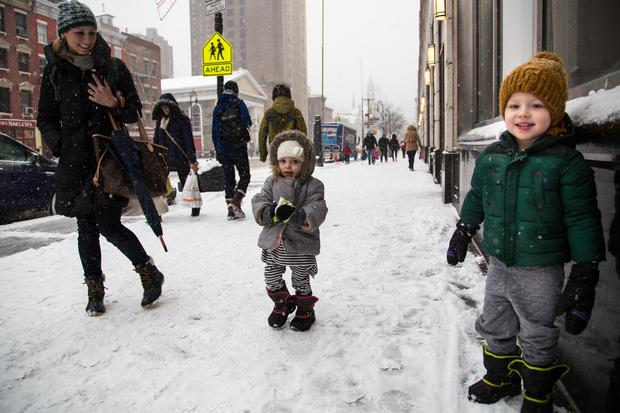 Henry and his little sister are about to begin the long track back to Brooklyn from the West Village. But first... 'Can you help me make a snowball?'