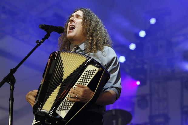 'Weird Al' Yankovic performs in the Gotham tent at Governors Ball on Randall's Island in New York on June 7, 2015.