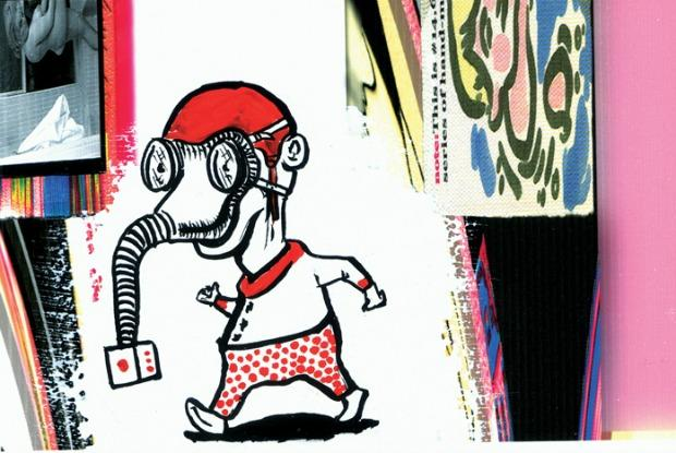 Mothersbaugh will show thirty-thousand postcards in an upcoming exhibit, Myopia, at the Museum of Contemporary Art Denver.