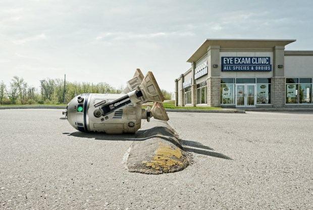 Even R2-D2 has trouble parking