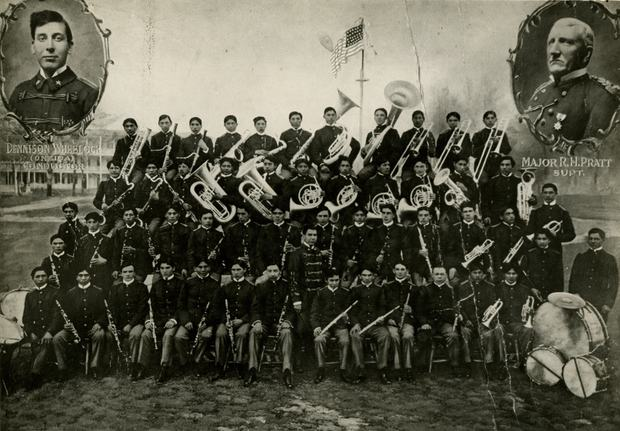 Carlisle Indian School Band, with Band Master Dennison Wheelock