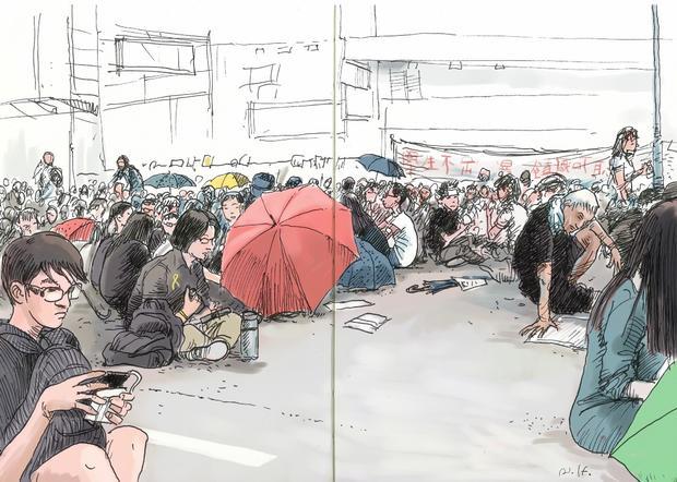Illustrating protests in Hong Kong