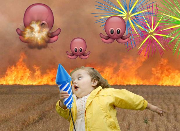 'I was running in a field of flames, chased by flying octopus. I was really scared and my only weapon was fireworks.' Margaux,01.17.2014