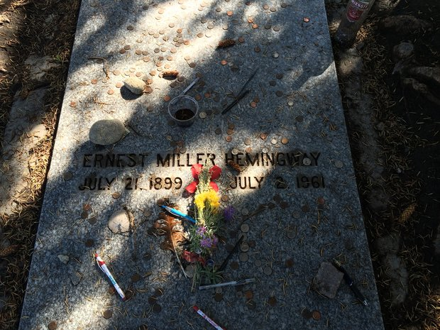 Ernest Hemingway was buried in Ketchum, Idaho.