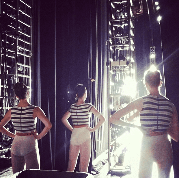 NYC Ballet dancers backstage