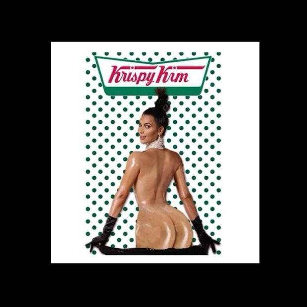 Kim Kardashian and the Krispy Kremes