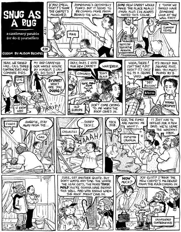 A panel from Dykes to Watch Out For, the comic strip Bechdel wrote for 25 years.