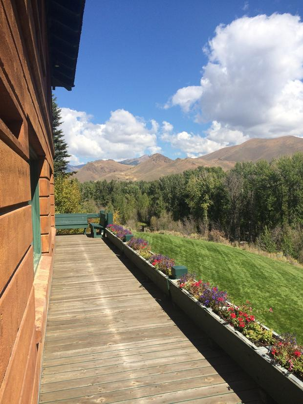 The view from Ernest Hemingway's house in Ketchem, Idaho.