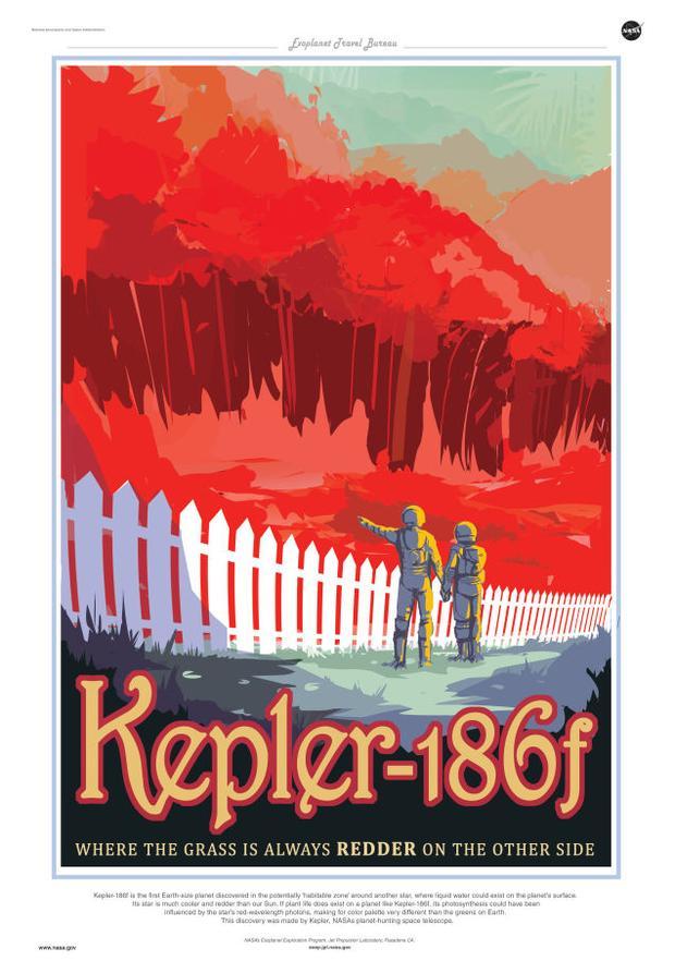 A poster for exoplanet Kepler-186f
