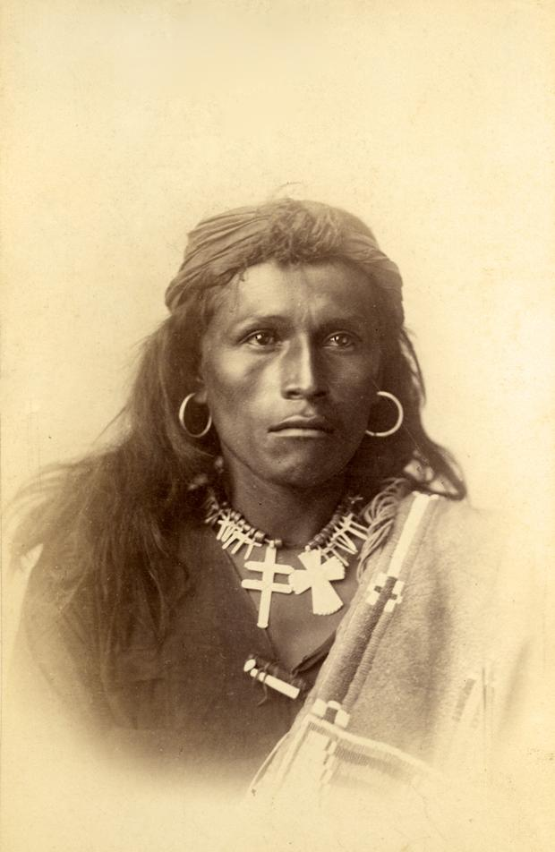 Tom Torlino, a Navajo student at the Carlisle Indian School, 1882
