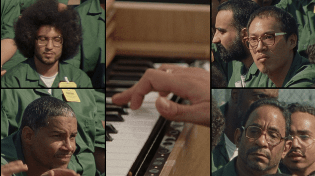 The Inmates listen to a special orchestral performance in 'Mozart in the Jungle'