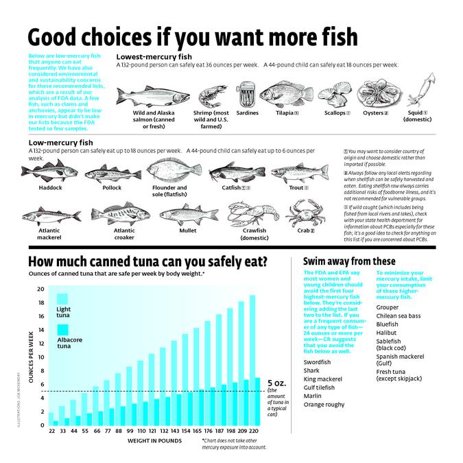 Mercury rising which fish and how much is safe to eat for Mercury levels in fish chart