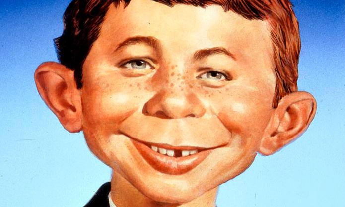 Artist Norman Mingo's portrait of Alfred E. Neuman, Mad Magazine's unofficial mascot
