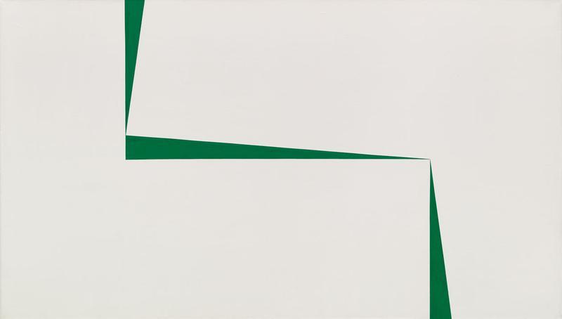 "Carmen Herrera's ""Blanco y Verde"" (1967) at the Whitney Museum."