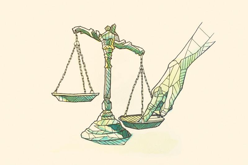 The scale of justice is not always balanced