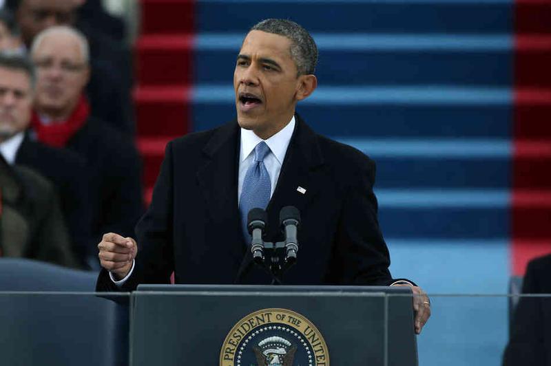 Obama delivering 2013 inaugural speech