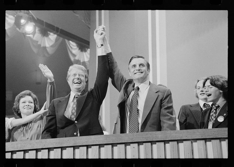 Jimmy Carter and Walter Mondale at the Democratic National Convention, New York City, July 1976