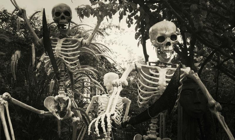 Suitably scary skeletons