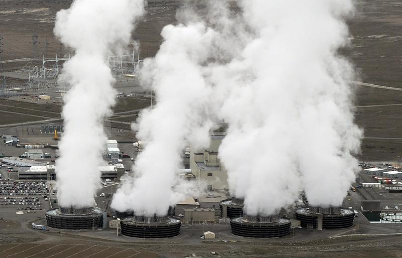 Aerial view of the Columbia Generating Station in Richland, Washington state on March 21, 2011.