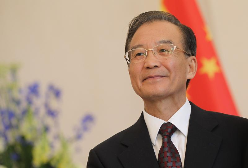 Chinese Premier Wen Jiabao arrives to meet with German President Christian Wulff at Bellevue Palace on June 28, 2011 in Berlin, Germany.