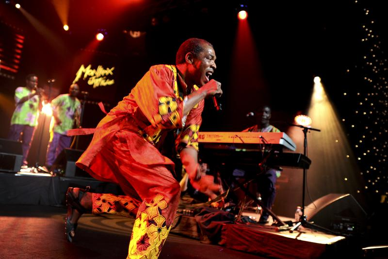 Femi Kuti, Nigerian musician and son of late Afrobeat icon Fela Kuti, performs during the 45th Montreux Jazz Festival on July 14, 2011 in Montreux.