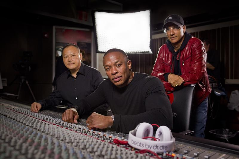 Peter Chou, Dr. Dre and Jimmy Iovine announce the strategic partnership of HTC and Beats by Dr. Dre on August 10, 2011 in Los Angeles, California.