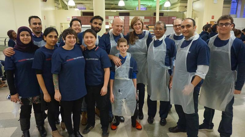 Samantha Power, U.S. Ambassador to the United Nations, took time away from the negotiating table to volunteer at a community center with a number of refugees.