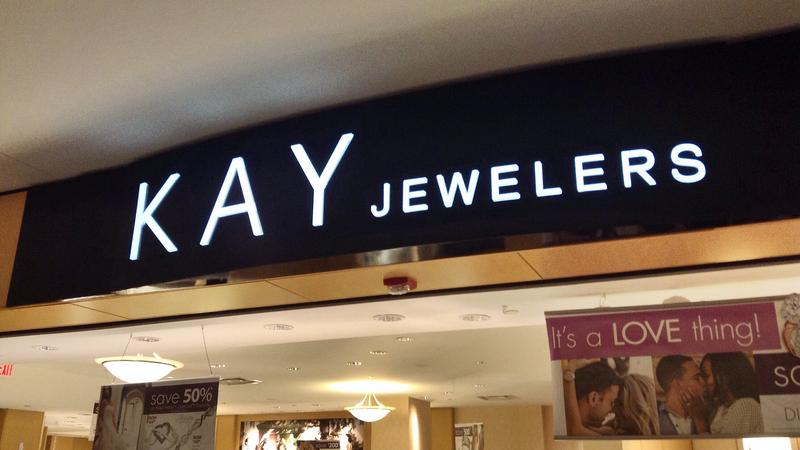 A sign for Kay Jewelers.