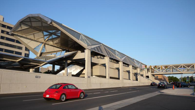 The Silver Line Metro Station at Tysons Corner, Virginia
