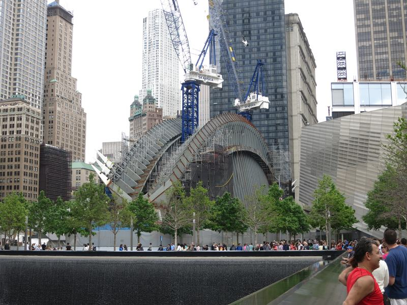 The World Trade Center's Calatrava transit hub under construction