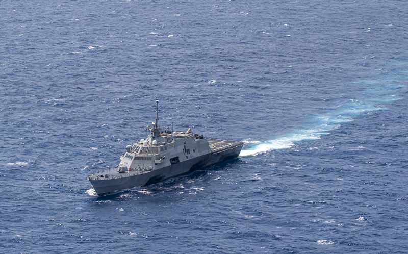 The USS Fort Worth patrols the South China Sea (July 7, 2015)